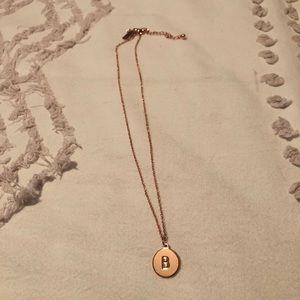 "Kate spade ""B"" necklace"